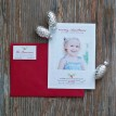 Grey Chevron with Holly Printable Holiday Photo Card